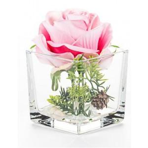 Arreglo floral rosa color rosa